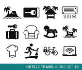 Hotel and Travel icons set 10