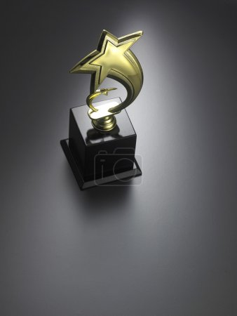 stars shape trophy