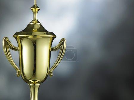 golden trophy cup