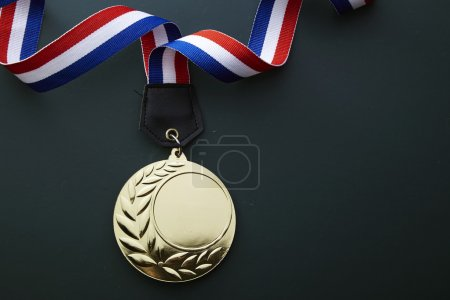 Champion medal with ribbon