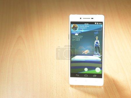 Smartphone screen with Pokemon go