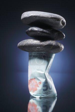 Financially under pressure concept