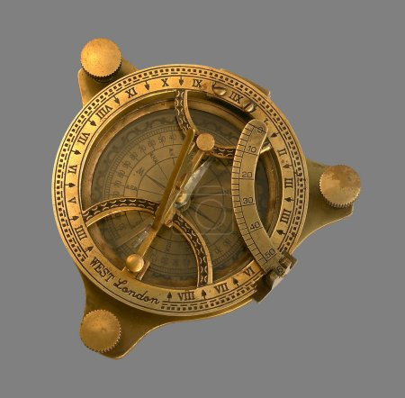 Golden antique compass