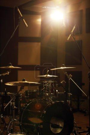 Drum set in room