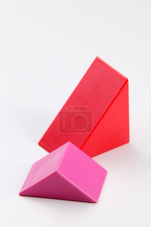 Triangle shape of the building blocks
