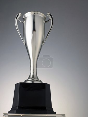 tall silver trophy