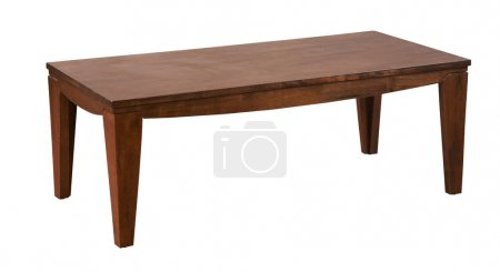 Photo for Single wooden coffee table - Royalty Free Image