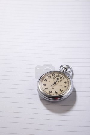 Stop watch on the exercise book