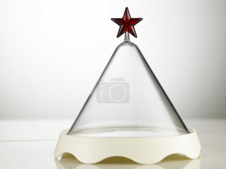 Photo for Plastic or glass container with star - Royalty Free Image