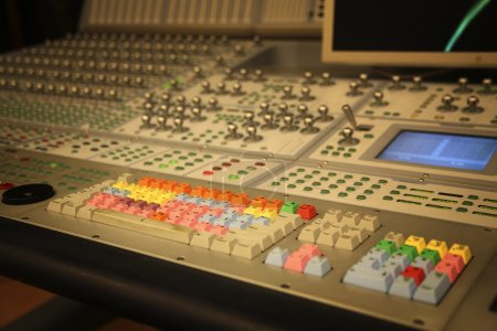 Mixer panel in the recording room