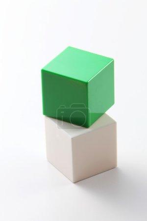 Square building blocks