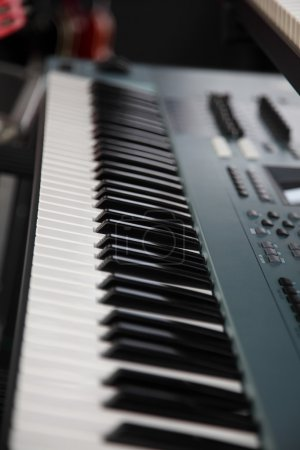 Photo for Single black musical keyboard instrument - Royalty Free Image