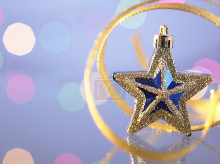 Golden star decoration