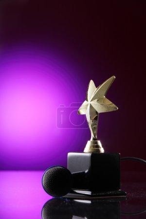 Golden star trophy