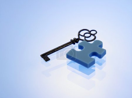 jigsaw puzzle with key