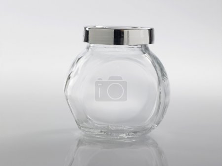Glass jar for condiment
