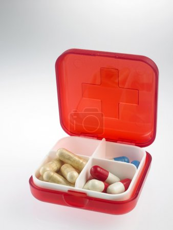 pill box with pills