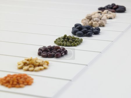 assortment of different beans