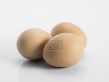 Photo for Three eggs isolated on white background - Royalty Free Image