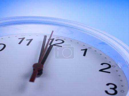 Close up of an analog clock