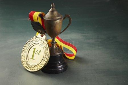 One metal trophy