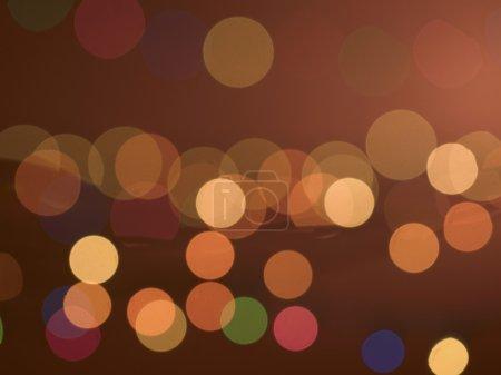 Foto de Colorido círculos de luz Abstact - Imagen libre de derechos