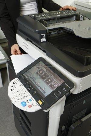Girl using Xerox machine