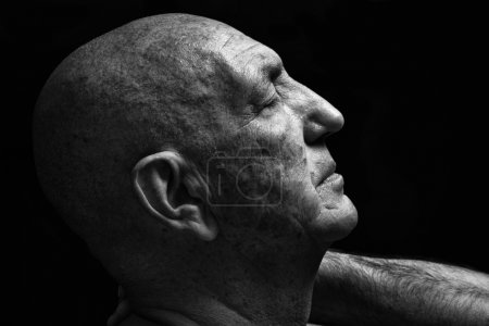Portrait of a bald old man