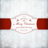 Silver Christmas invitation card with label