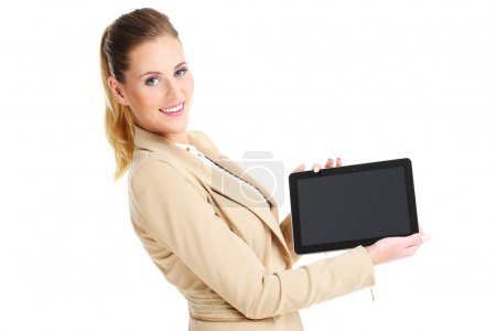 Business woman and tablet