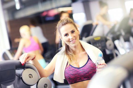 Fit woman in sports club