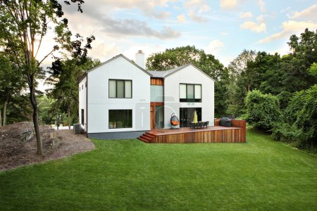 Photo for A picture of a modern luxury house and garden - Royalty Free Image