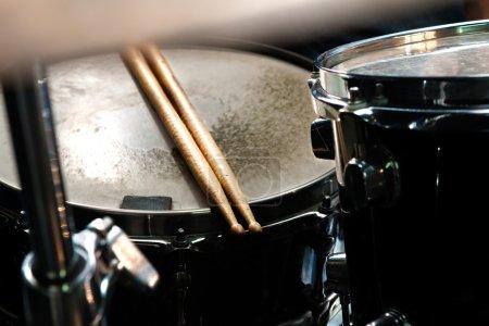 Photo pour Musique background.Drum close up image . - image libre de droit