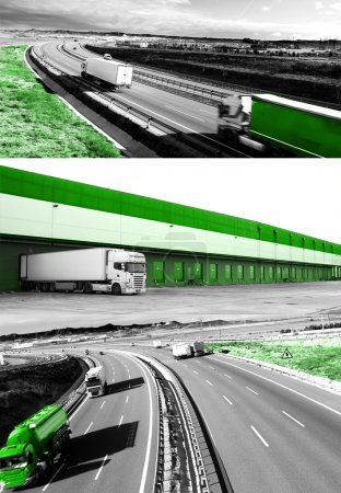 Design international shipment and highway