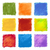 Fruity colored paint square backgrounds
