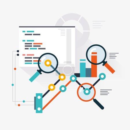 Illustration pour Moteur d'analyse de l'optimisation du site Web - image libre de droit