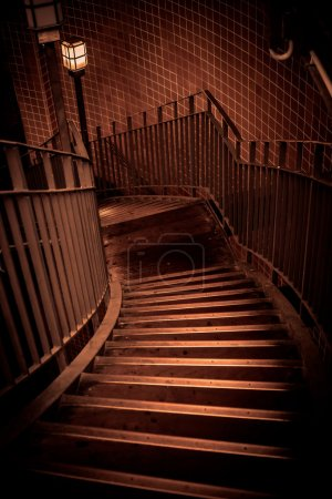 Stairway going down in a building