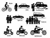 Půdu osobní dopravy dopravu vozidla sada