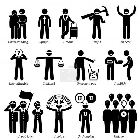 Positive and neutral personalities traits, attitud...