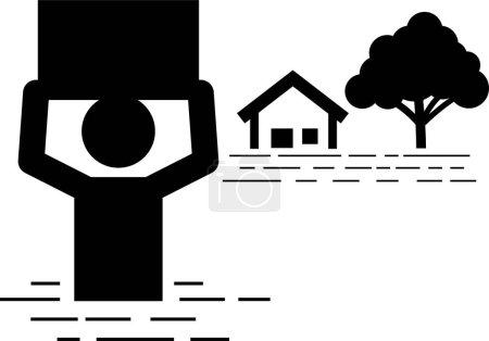 Life Insurance Protection. Stick figures depict li...