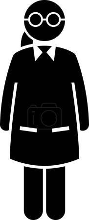 Photo pour Healthcare Jobs, Works, and Occupations for Women. Oeuvres d'art dépeignent femme médecin, infirmière, femme psychiatre, fille EMT, dame chercheur, et femme vétérinaire. - image libre de droit