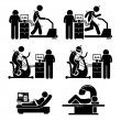 Illustrations showing the various stress test avai...