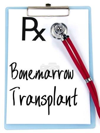 bonemarrow transplant text write on prescription