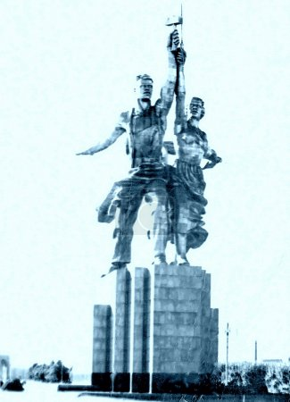 Moscow Worker and Kolkhoz Woman Monument 1962