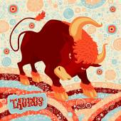 Astrological zodiac sign Taurus Part of a set of horoscope signs Vector illustration