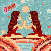 Astrological zodiac sign Gemini Part of a set of horoscope signs Vector illustration