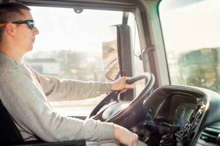 truck driver in the cab