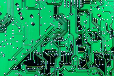 Photo for Solder side of electronic printed circuit board - Royalty Free Image