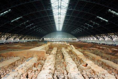 Main view of the Terracotta Army, the Qin Shi Huang Mausoleum