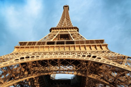 Photo for The Eiffel Tower in Paris, France. Paris is one of the most popular tourist destinations in Europe. - Royalty Free Image